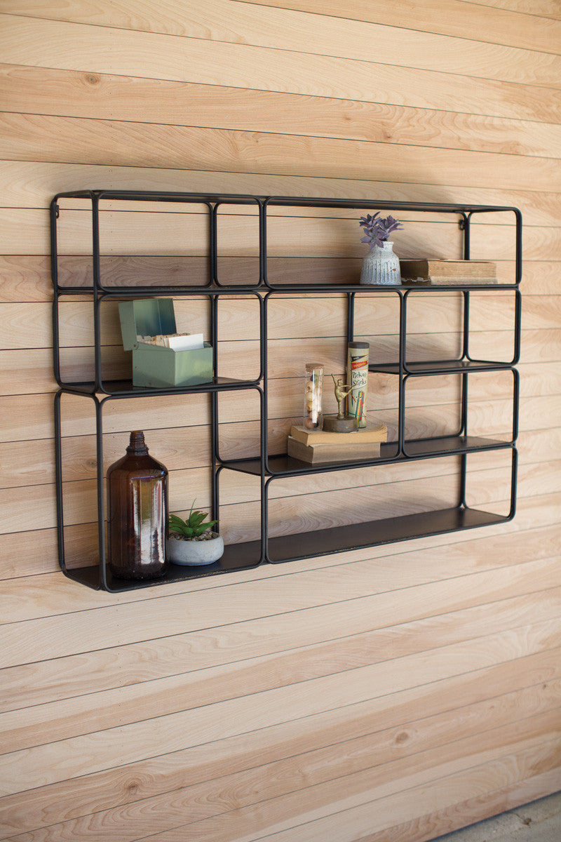LARGE METAL WALL SHELF