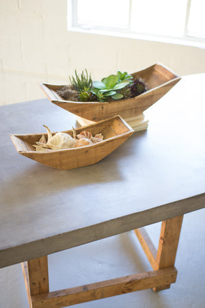 RECYCLED WOODEN BOAT TRAY PLANTERS