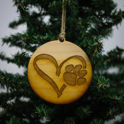 HEART & PAW ORNAMENT