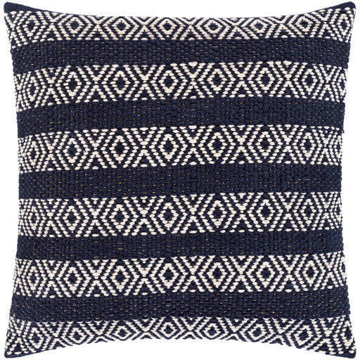 IBAZA WOVEN NAVY PILLOW