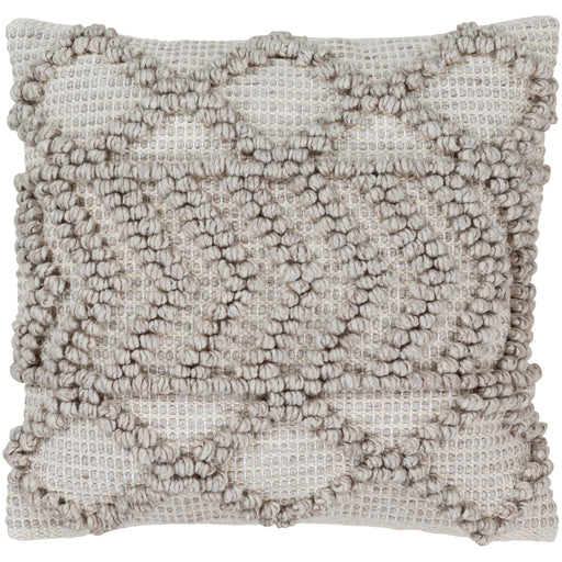 ANDERS KNITTED PILLOW TAUPE