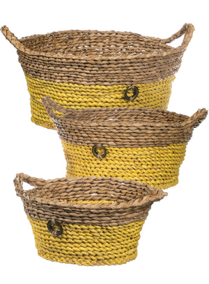 YELLOW AND TAN BASKETS