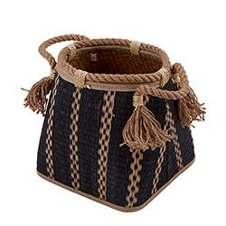 BLACK STRIPE BASKET