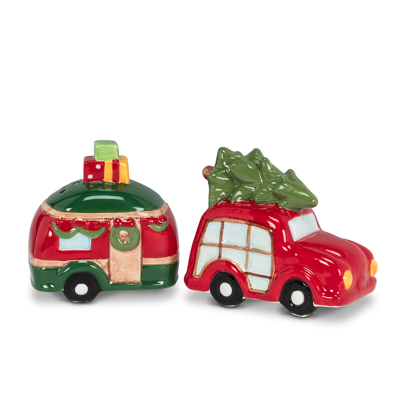 CAR AND CAMPER SALT & PEPPER SHAKERS