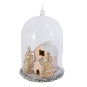 HOUSE IN CLOCHE ORNAMENT