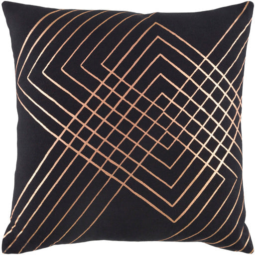 CRESCENT BLACK 20x20 PILLOW