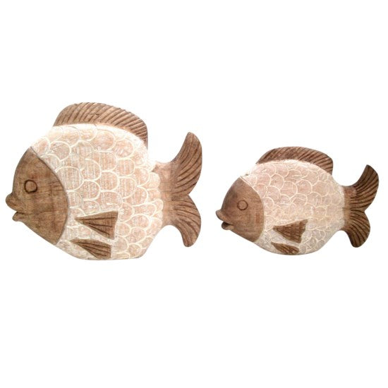 CORAL REEF FISH STATUES, SET OF 2