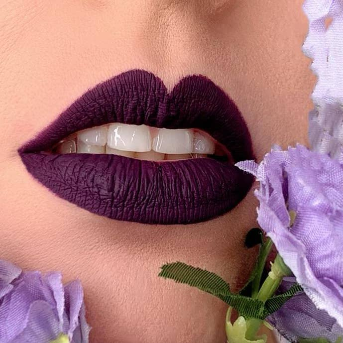 DARK PURPLE MATTE LIQUID LIPSTICK #1