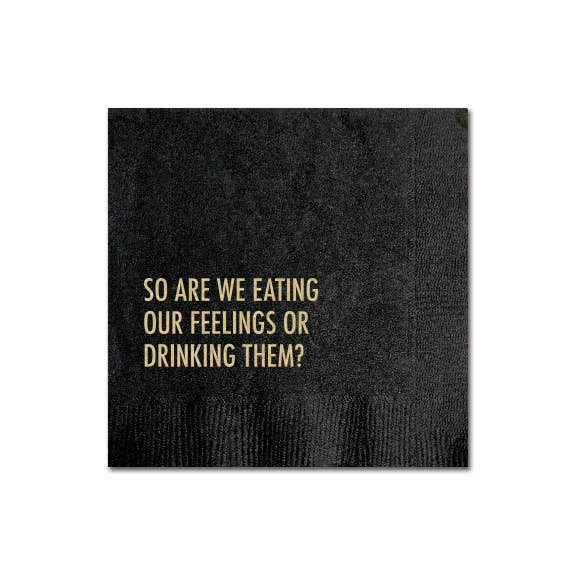EATING FEELINGS COCKTAIL NAPKIN