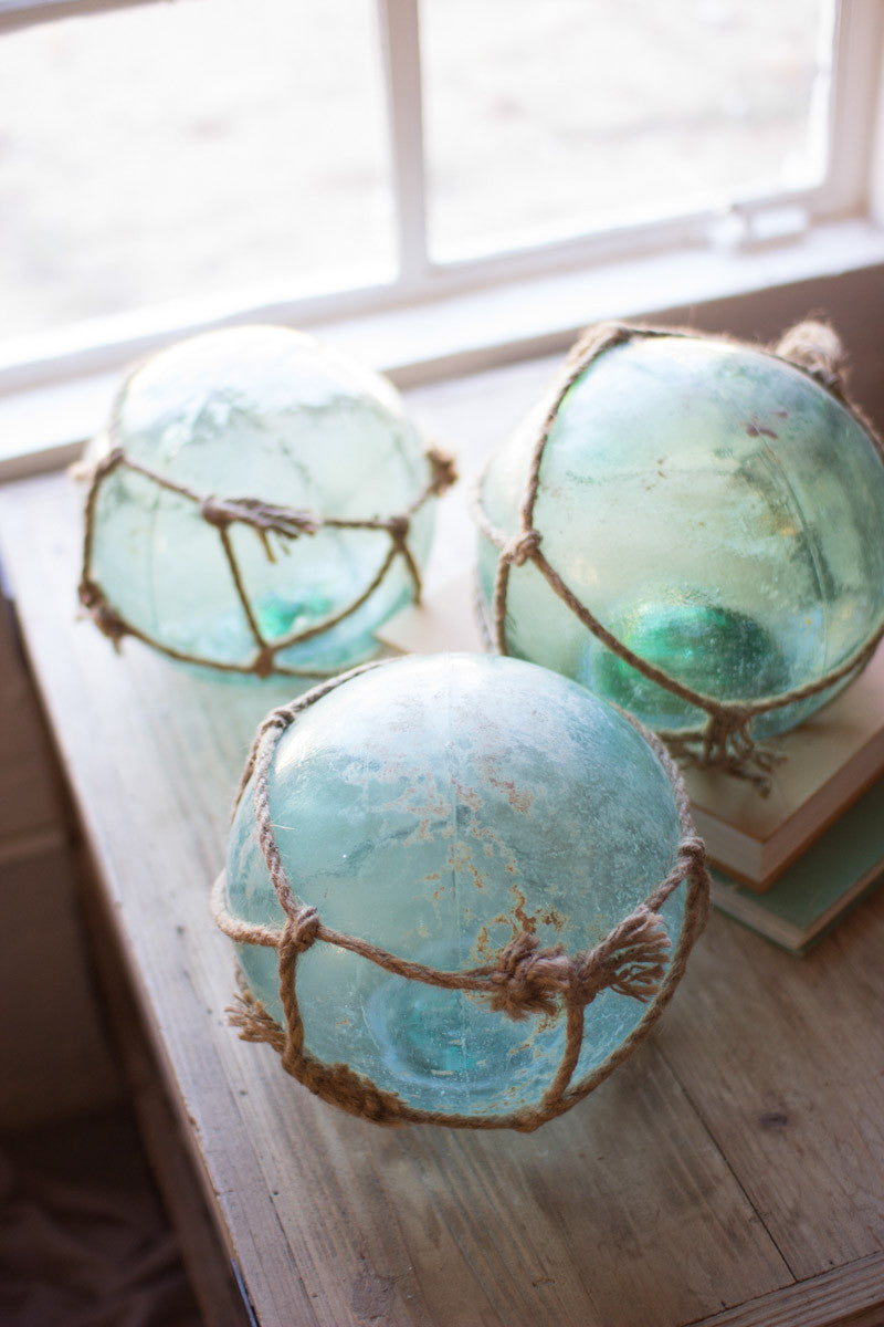ANTIQUE GLASS FLOATS