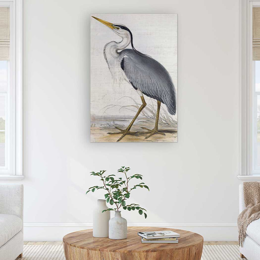 23X34 GRAY HERON SIGN