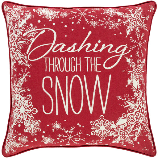 HOLIDAY RED DASHING PILLOW