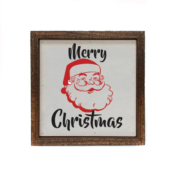 6x6 Merry Christmas Sign