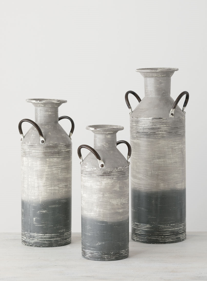 GRAY STRIPE VASES