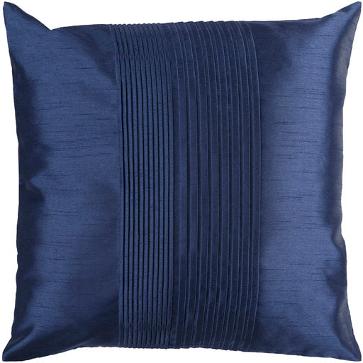 SOLID NAVY PLEATED PILLOW
