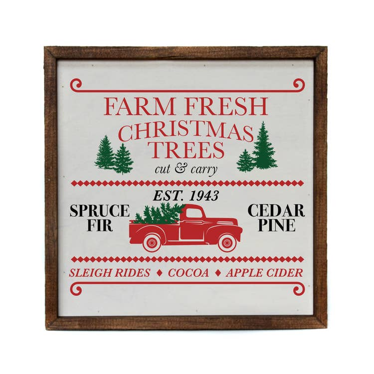 10x10 CHRISTMAS TRUCK SIGN