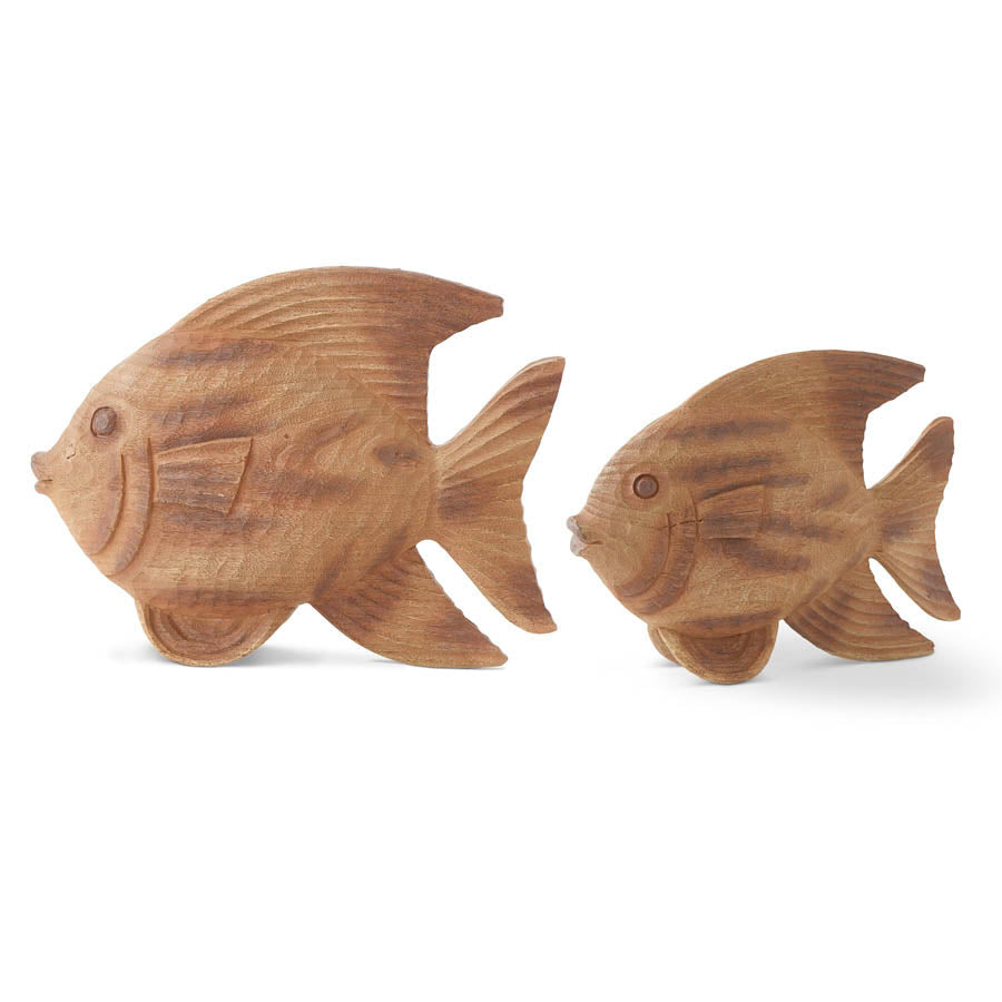 CARVED WOOD FISH