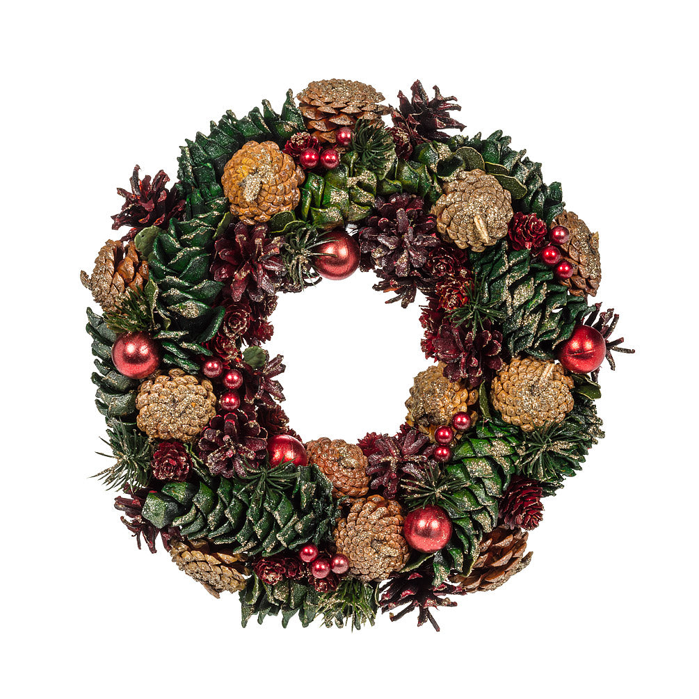 PINECONE & BALL WREATH