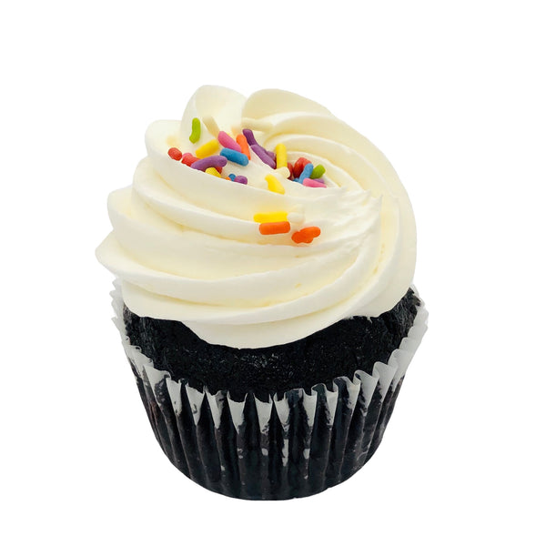 VEGAN Chocolate Loves Vanilla Cupcakes (4-pack)