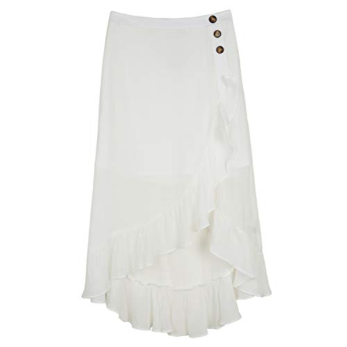 Amy Byer Girls' Ruffle Front Maxi Skirt