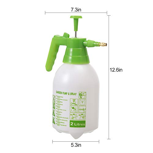 ITISLL 68oz Garden Pump Sprayer Portable Yard & Lawn Sprayer for Spraying Weeds/Watering/Home Cleaning/Car Washing 0.5 Gallon 219NR2