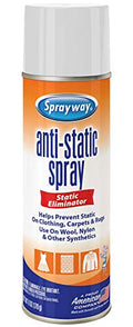 Sprayway SW956R Residue-Free Anti-Static Spray, Reduce Static Cling, Eliminate Static Shock, 6 Oz