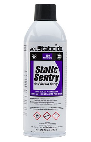 ACL Staticide 2006 Static Sentry, Aerosol, 12 oz, White