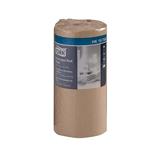 "Tork HK1975A Perforated Roll Towel, Jumbo Roll, 2-Ply, 11"" Width x 9"" Length, Natural, Green Seal Certified (Case of 12 Rolls, 210 Per Roll, 2,520 Towels)"