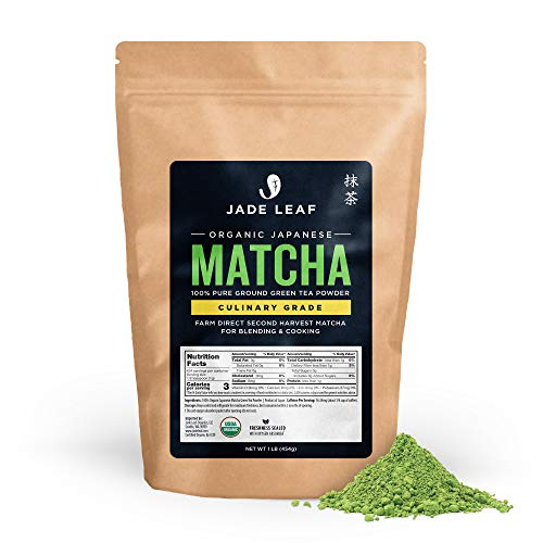 Jade Leaf Matcha Green Tea Powder - Organic, Authentic Japanese Origin - Culinary Grade - Premium 2nd Harvest