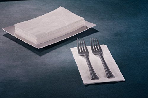 Premium White Napkins, 1/8 Fold Dinner Napkin, Value Pack 200 Count