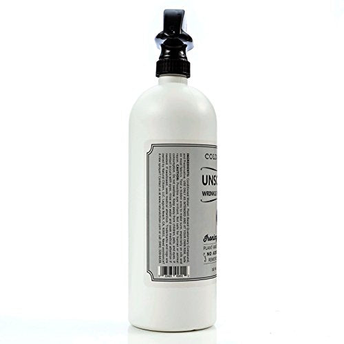 Cold Iron Wrinkle Release Spray for Clothes. 32 fl oz. Unscented/Fragrance Free. Plant Based Ironing Alternative. Fast, Easy to Use. Spray, Smooth, Hang. Award Winning Formula to Save You Time