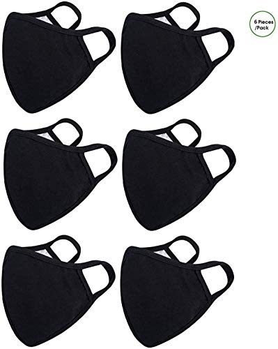 6 Pack Cotton Unisex Face Reusable for Cycling Camping Travel for Kids Teens Men Women