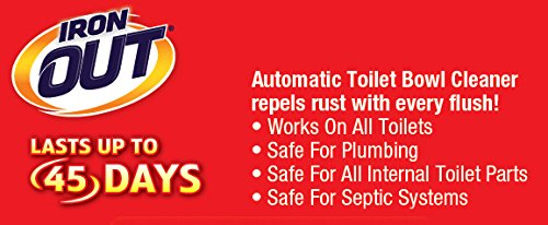 Iron OUT Automatic Toilet Bowl Cleaner, Repel Rust and Hard Water Stains with Every Flush, Household Toilet Cleaner, Pack of 1, 6 Tablets