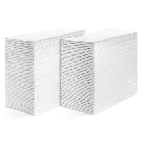 American Homestead Disposable Hand Towels for Bathroom-Paper Guest Napkins-White Linen-Like Bulk Multifold Wipes-Hygienic Solution For Wedding Reception, Dinner Party (Parent, Quilted)