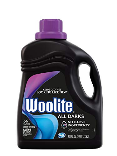 Woolite All Darks Liquid Laundry Detergent 66 Loads, Black Clothes & Jeans, Regular & HE Washers, Multi, 100 Fl Oz (Pack of 1), Moonlight Breeze