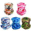 5 Pieces Sun UV Protection Face Mask Neck Gaiter Windproof Scarf Sunscreen Breathable for Sport&Outdoor
