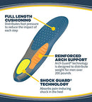 Dr. Scholl's HEAVY DUTY SUPPORT Pain Relief Orthotics // Designed for Men over 200lbs with Technology to Distribute Weight and Absorb Shock with Every Step (for Men's 8-14)