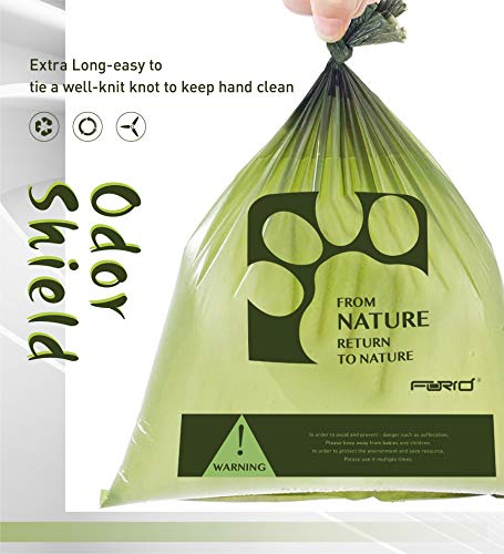 FORID Colorful Garbage Bags Green Pet Waste Bags, 1.2 Gal/ 8 Gal 150-330pcs Medium Trash Bags,Extra Strong Rubbish Bags for Home, Office, Car