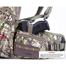 Badlands 2200 Camouflage Hunting Pack and Meat Hauler - Bow, Rifle, and Pistol Compatible