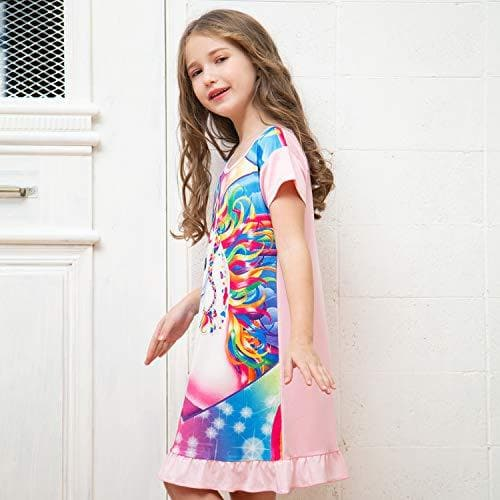 Sylfairy Girls Nightgowns, Unicorn Nightgown Princess Pajama Dresses for Girls Sleepwear Nightie