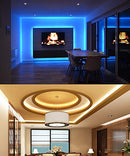 MINGER LED Strip Lights, 16.4ft 32.8ft RGB LED Light Strip 5050 LED Tape Lights, Color Changing LED Strip Lights with Remote for Home Lighting Kitchen Bed Flexible Strip Lights for Bar Home Decoration