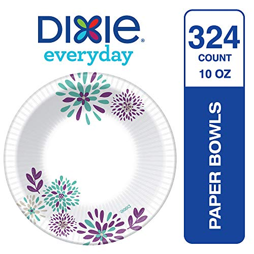 Dixie Everyday Disposable Paper Bowls, 10 oz., Printed, 324 Count Product