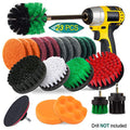 23 Piece Drill Brush Attachment Set, JUSONEY Power Scrubber Drill Brush Kit, Scrub Brush With Extend Long Attachment, Scrubing Pads Cleaning Kit For Tile Sealants, Bathtub, Sinks, Floor, Wheel, Carpet
