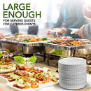 "Stock Your Home 9-Inch Paper Plates Uncoated, Everyday Disposable Plates 9"" Paper Plate Bulk, White, 300 Count"