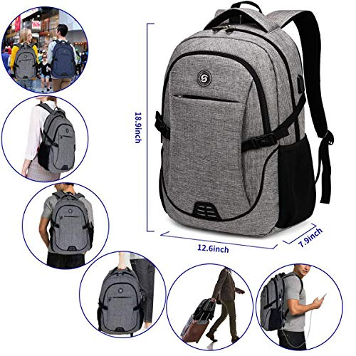 Anti Theft Laptop Backpack with usb Charging Fits 15.6 Inch Laptop Includ Lock