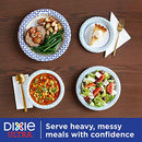 "Dixie Ultra Paper Plates, 8 1/2"", Lunch or Light Dinner Size Printed Disposable Plates, 300 count (10 Packs of 30 Plates)"