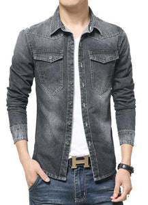 Real picture Of Fashion Brand Men Casual Pure Denim WOW Shirt pack of 3