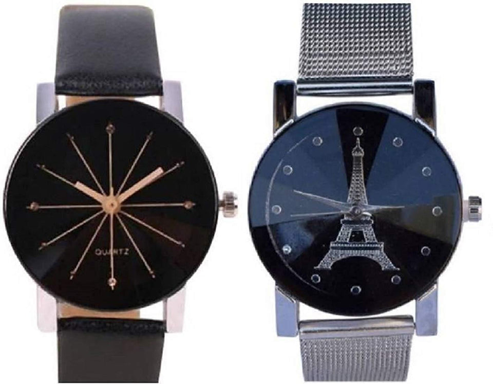 Analogue Black Dial Belt Hybrid Women's Watch Combo - Pack of 2 Latest Fast Selling Comb