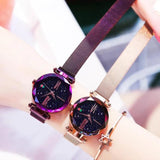 Presents Purple Magentic belt watch for girls and women.
