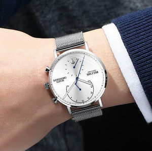 Men Business Wrist Watch Man Watches Chronograph Luxury Brand Male Clock Quartz Wristwatch Male Watch Men's Wristwatches